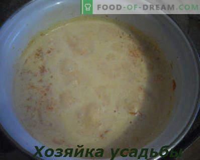 Comment faire cuire la bouillie de potiron dans le lait, recette pas à pas avec photo