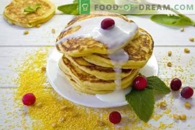 Frittelle di mais - pancakes su kefir con farina di mais