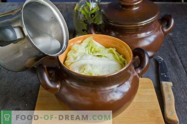 Costillas de cerdo en una olla con calabaza y champiñones