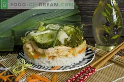 Filetto alla Stroganoff con porro, riso, broccoli e cavolfiore