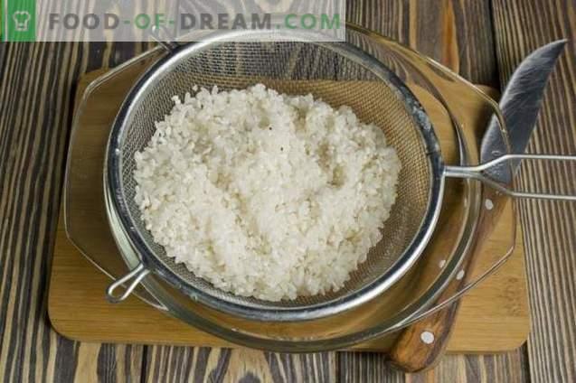 Strogonoff de carne com alho-poró, arroz, brócolis e couve-flor