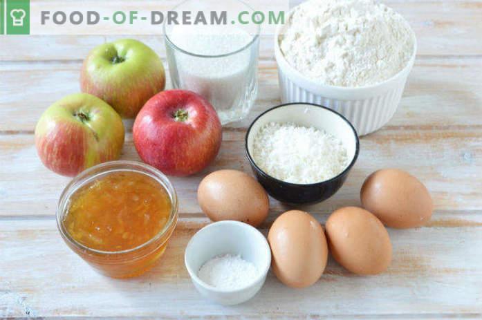 Tarta de manzana con mermelada de limón, receta en el horno
