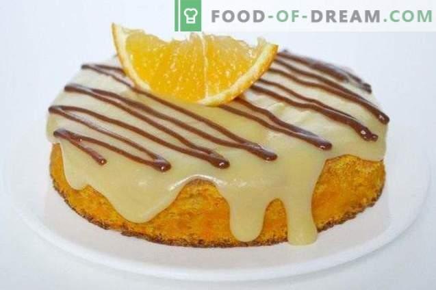 Wortelbiscuit met sinaasappelcrème
