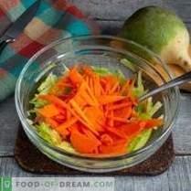 Insalata sana di ravanello verde con carote