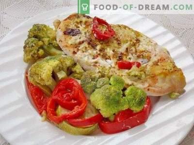 Petti di pollo al forno con verdure