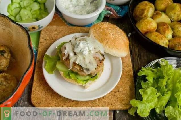 Hamburger fatti in casa con patatine