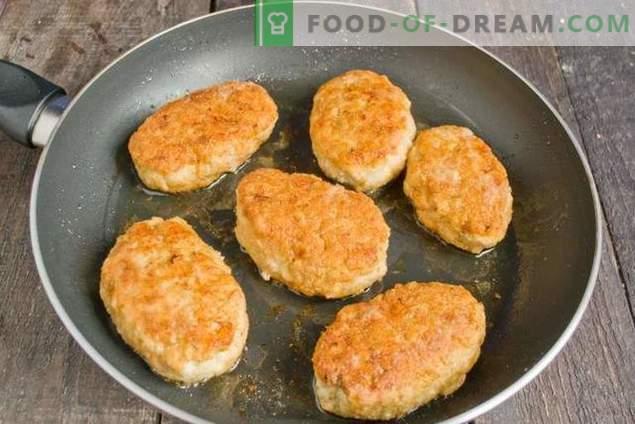 Gehakte kippengehaktballetjes met uien