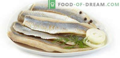 Come salare l'aringa in casa è gustosa e veloce, in marinata e salatura a secco