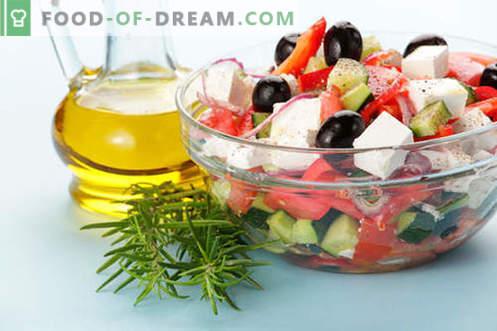 Insalate con olio d'oliva - una selezione delle migliori ricette. Come preparare correttamente e deliziosamente insalate con olio d'oliva.