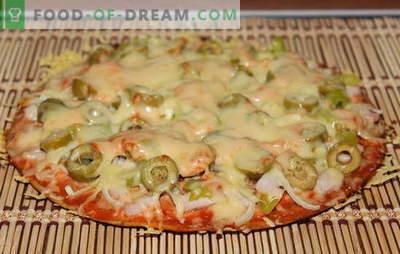 Uma receita de pizza sem fermento é interessante! Muitas receitas de pizza para massa sem fermento - escolha!