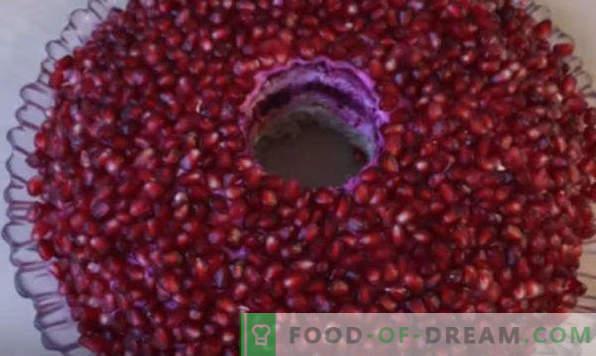 Bracciale con granato per insalata e 7 opzioni per la sua preparazione