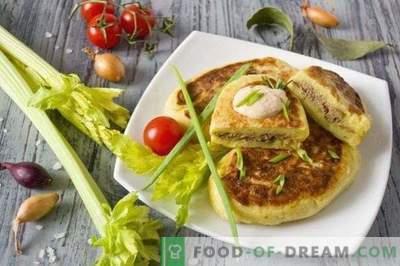 Patate zrazy - polpettine di patate con fegato di pollo