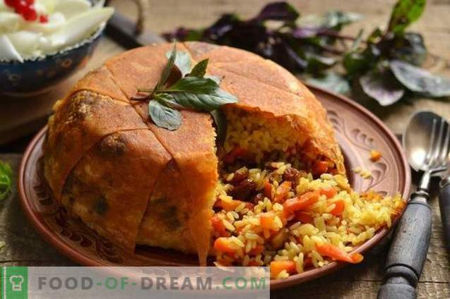 Shakh-pilaf in pane pita - consumando per la vacanza