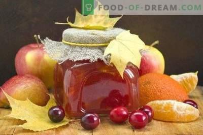Apple-jam met veenbessen en citrus