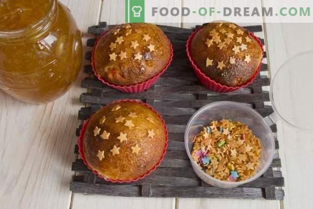 Muffins di ricotta con cardamomo e frutta candita