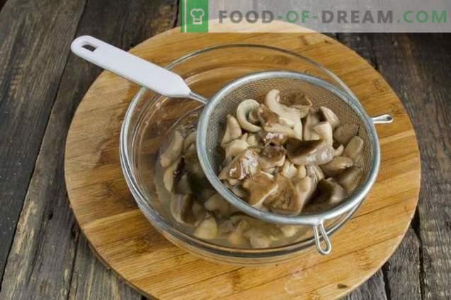 Torta con funghi su kefir