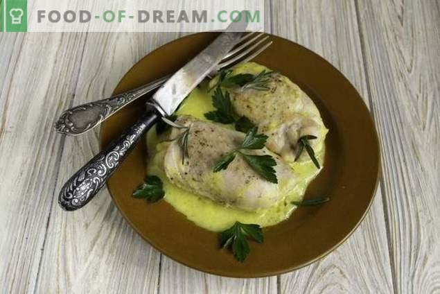 involtini di pollo blu a cordoncino succoso con besciamella