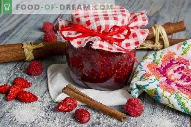 Confettura di fragole con lamponi e cannella