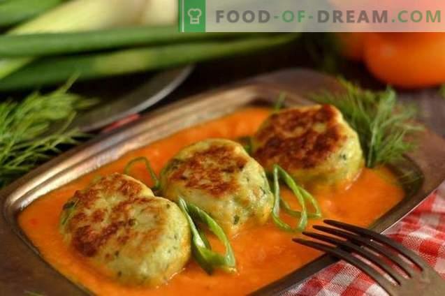 Polpette al forno con un sugo di verdure
