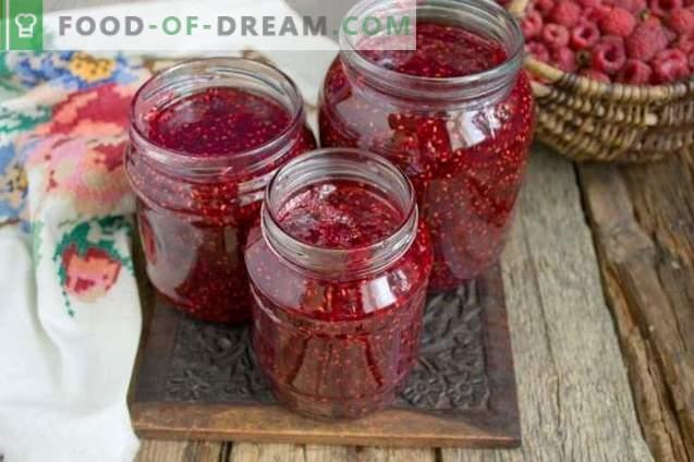 Confettura di lamponi per l'inverno in 10 minuti