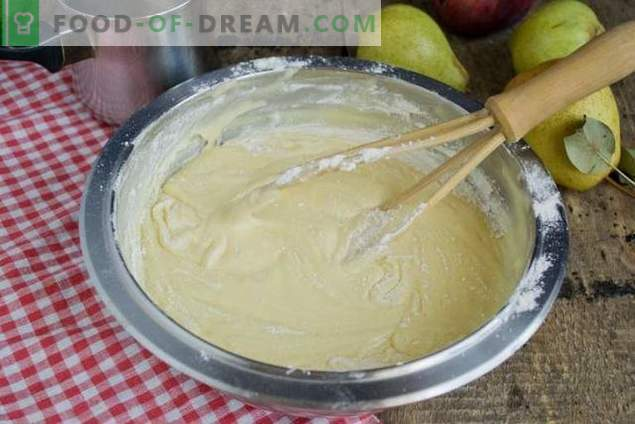 Torta con pere e mele - dessert di tè d'autunno