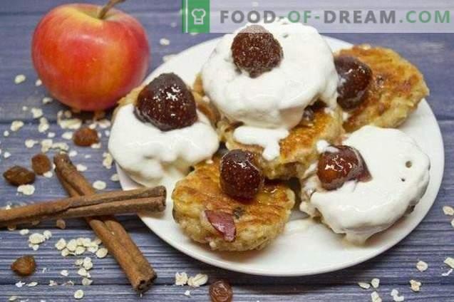 Käsekuchen mit Haferflocken und Äpfeln