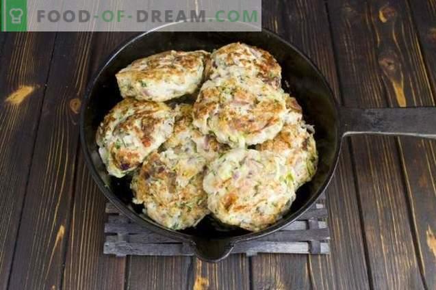 Costolette di pollo con funghi e zucchine