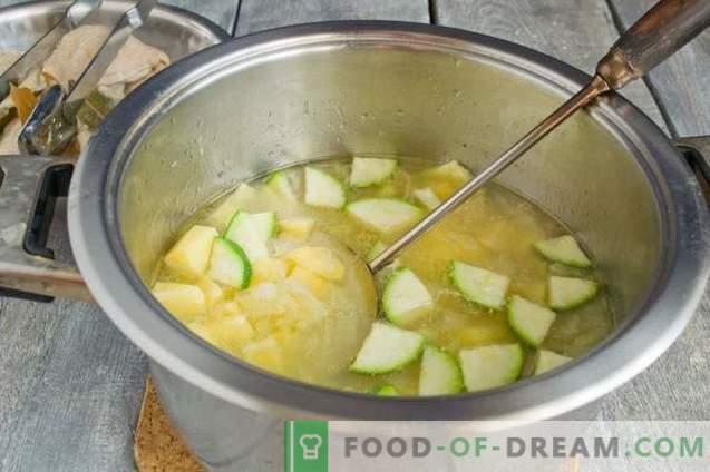 Zuppe di spinaci verdi