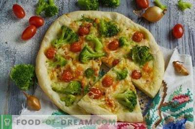 Pizza magra con broccoli e tofu