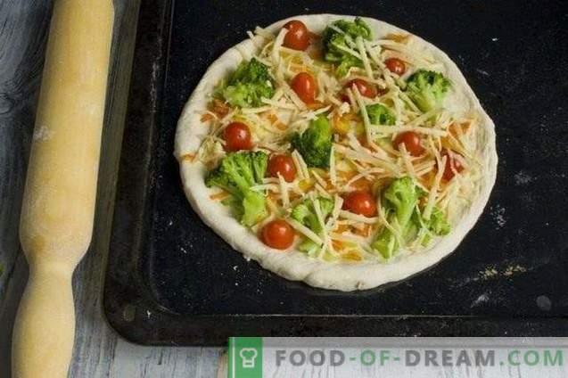 Pizza magra con broccoli e tofu