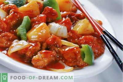 Poulet en chinois - les meilleures recettes. Comment bien cuire le poulet en chinois.