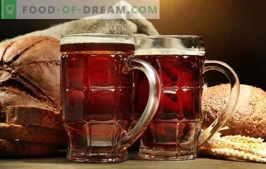 Il kvas fatto in casa dai cracker è una bevanda salutare e gustosa. Le migliori ricette per fare kvas dai cracker a casa