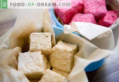 Marshmallow fatti in casa - le migliori ricette. Come cucinare i marshmallow a casa.