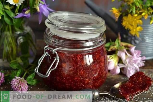 Marmellata di fragole selvatiche con agar-agar