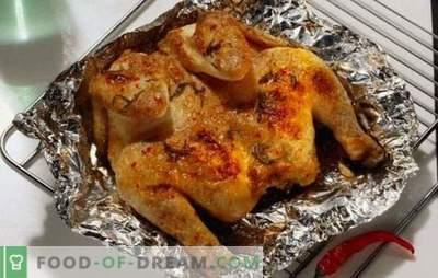 Pollo profumato e succoso al cartoccio nel forno - rapidamente, semplicemente e gustoso. Cottura di pollo in carta stagnola nel forno - ricette passo dopo passo