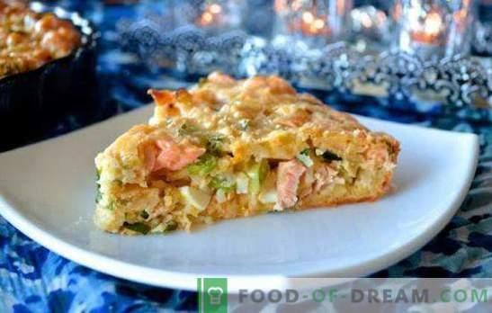Torta con pesce in scatola e riso - un piatto economico! Varianti di torte con riso e pesce in scatola: lievito, puff, sabbioso