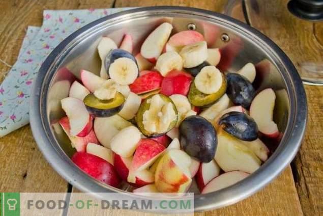 Õunamahl talvel banaanide ja ploomidega