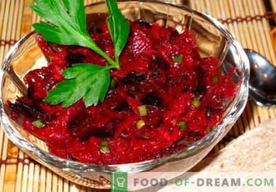 Insalata di barbabietole crude - una selezione delle migliori ricette. Come cucinare correttamente e gustoso insalata di barbabietole crude.