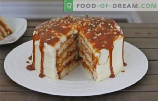 Dolci al miele, sabbia, biscotti e wafer con latte condensato. Ricette per torte con latte condensato