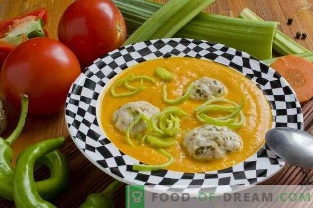 Zuppa di verdure con polpette di pollo