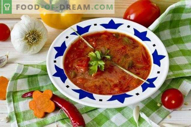 Borsch vegetariano - barbabietola rossa