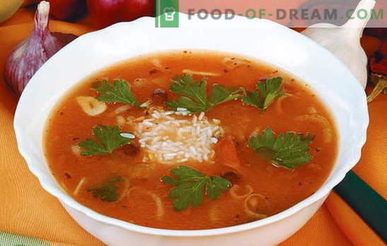 Ricette autorizzate e comprovate di kharcho con riso. Quali ingredienti sono adatti per preparare deliziosi kharcho con il riso?