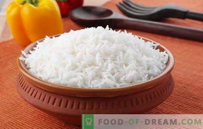 Come cucinare il riso in modo che sia friabile. Ricette dal riso friabile, il segreto della cottura del riso, in modo che fosse friabile