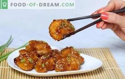 Kip in honing-mosterdsaus is een gouden vogel! Recepten voor smakelijk kip in honing-mosterdsaus en hele stukken