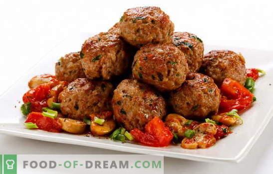 Le polpette di carne macinata sono un piatto semplice. Ricette per polpettine di manzo succose: classiche, ecc.