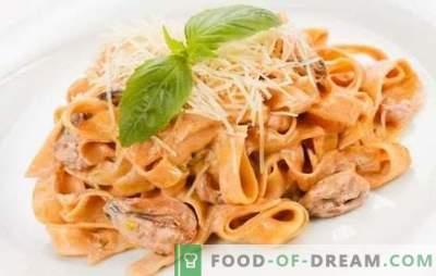 Pasta con frutti di mare in salsa di panna - un gusto delicato d'Italia! Ricette collaudate con frutti di mare in salsa di panna