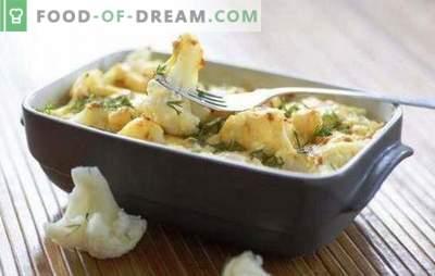 Cavolfiore al forno con formaggio - dieta! Piatti originali di cavolfiore al forno con formaggio