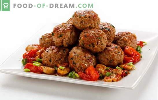 Polpettine di carne per pranzo, cena o tavola festiva. Ricette per deliziose polpette di carne di manzo, vitello, maiale