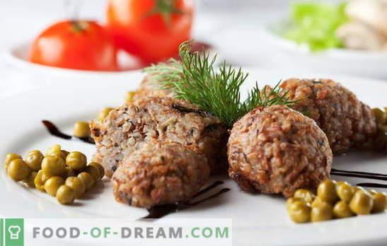 Le cotolette di grano saraceno sono un ottimo modo per amare il grano saraceno. Ricette costolette di grano saraceno con funghi, carne macinata, fegato, formaggio e verdure