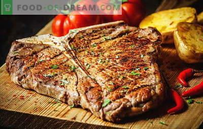 Come friggere una bistecca per renderla perfetta. Quanto friggere in padella, griglia o carbone, sottaceti e salse